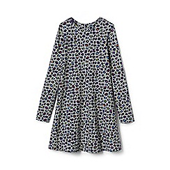 Lands' End - Girls' grey jersey knit twirl dress
