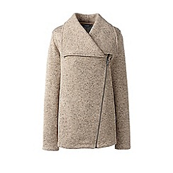 Lands' End - Beige waterfall fleece jacket