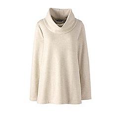 Lands' End - Cream cowl neck super-soft fleece tunic