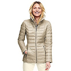 Lands' End - Beige funnel neck primaloft packable jacket