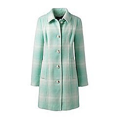 Lands' End - Multi wool blend patterned car coat