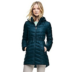 Lands' End - Green mid-length down coat
