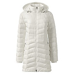 Lands' End - White mid-length down coat
