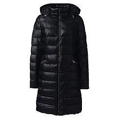 Lands' End - Black lightweight down long coat