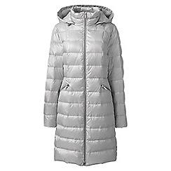 Lands' End - Grey lightweight down long coat