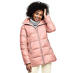 Lands' End - Pink lightweight down a-line coat