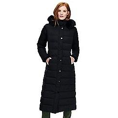 Lands' End - Black long down coat