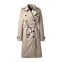 Lands' End - Beige cotton trench coat