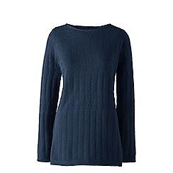 Lands' End - Blue lofty boatneck tunic jumper
