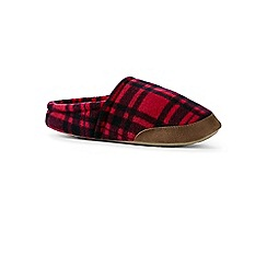 Lands' End - Red fleece slippers