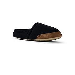Lands' End - Black fleece slippers