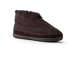 Lands' End - Brown sheepskin bootie slippers