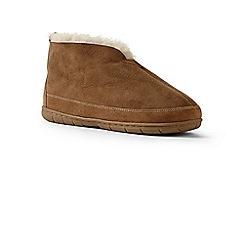 Lands' End - Beige sheepskin bootie slippers