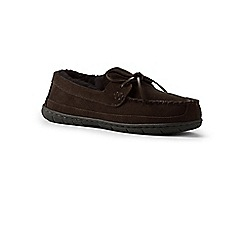 Lands' End - Brown shearling moccasin slippers