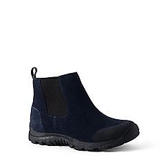 Lands' End - Navy regular everyday suede boots