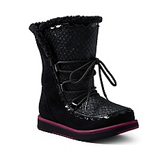 Lands' End - Black cosy boots