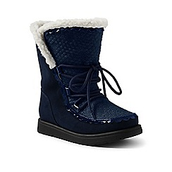 Lands' End - Dark blue cosy boots