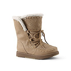 Lands' End - Gold cosy boots