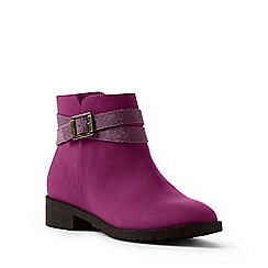 Lands' End - Bright pink regular buckle ankle boots
