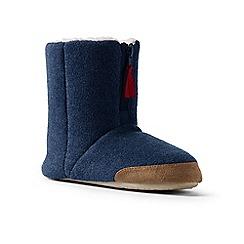 Lands' End - Dark blue fleece bootie slippers