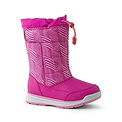 Lands' End - Bright pink snow flurry boots