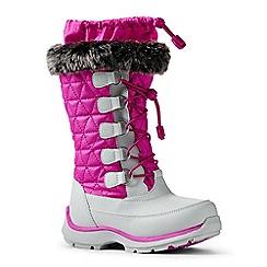 Lands' End - Cerise snowflake boots