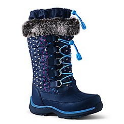 Lands' End - Navy snowflake boots