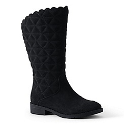Lands' End - Black quilted suede boots