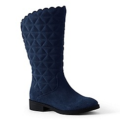 Lands' End - Navy quilted suede boots