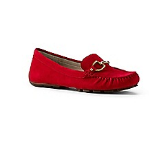 Lands' End - Red suede driving shoes