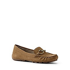 Lands' End - Brown suede driving shoes