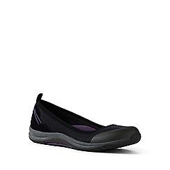 Lands' End - Black comfort ballet pumps