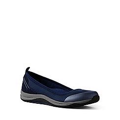 Lands' End - Blue comfort ballet pumps