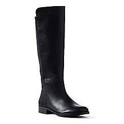 Lands' End - Black regular leather/stretch boots