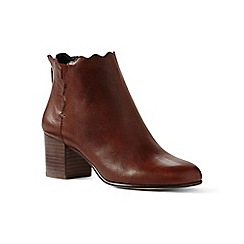 Lands' End - Brown regular scalloped ankle boots
