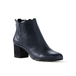 Lands' End - Blue regular scalloped ankle boots