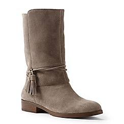 Lands' End - Brown regular slouchy suede boots