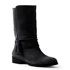 Lands' End - Black regular slouchy suede boots