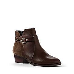 Lands' End - Brown regular buckle ankle boots