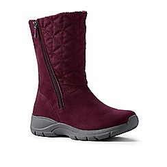 Lands' End - Red quilted side-zip winter boots