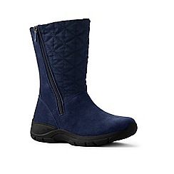 Lands' End - Blue quilted side-zip winter boots
