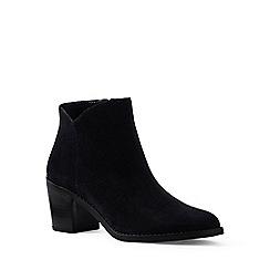 Lands' End - Black regular suede ankle boots