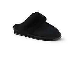 Lands' End - Black sheepskin mule slippers