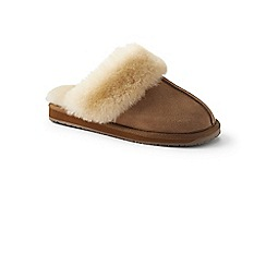Lands' End - Beige sheepskin mule slippers