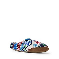 Lands' End - Multicolured fleece slippers