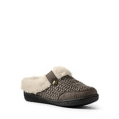 Lands' End - Beige chunky knit slippers