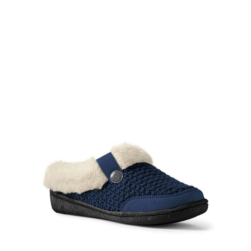 Lands' End - Blue Chunky Knit Slippers