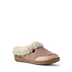 Lands' End - Pink chunky knit slippers