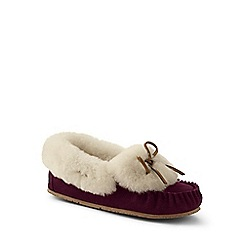 Lands' End - Purple shearling moccasin slippers