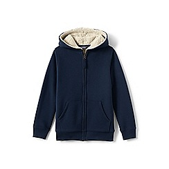 Lands' End - Toddler boys' blue sherpa-lined hoodie